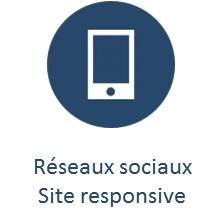 réseaux sociaux site responsive blueau