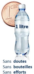 1 cent pour 1 litre leau pure et saine Osmoseur blueau avantages