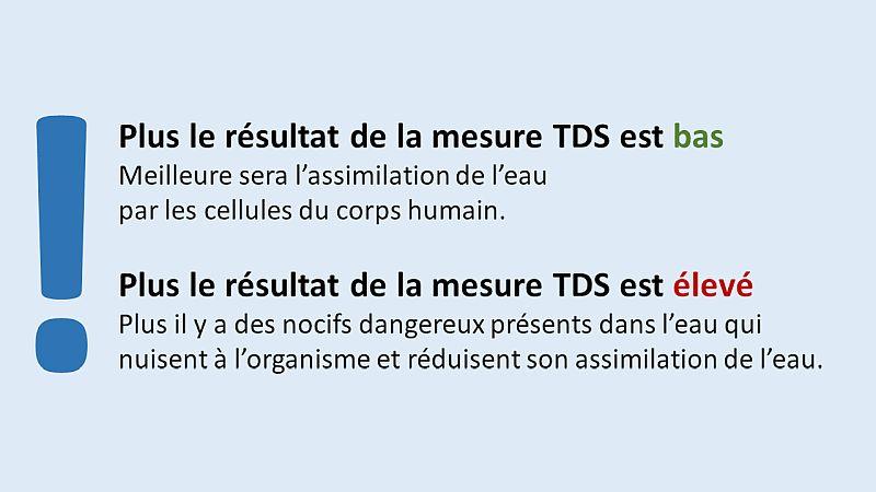 TDS résultat de la mesure blueau