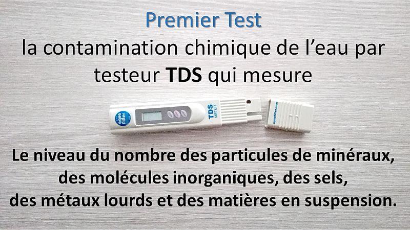 test eau TDS blueau