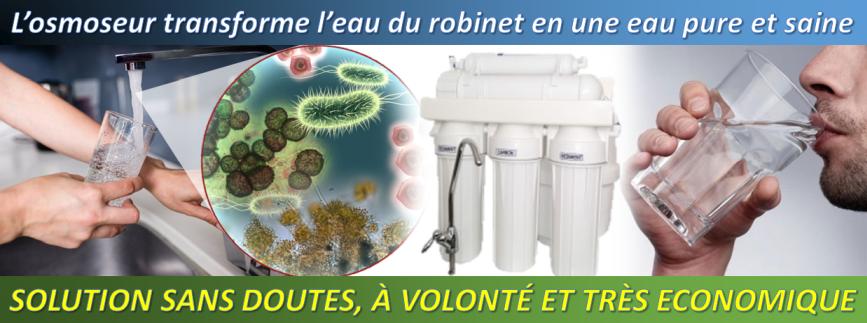 osmoseur RO5 transforme leau du robinet en une eau saine et pure