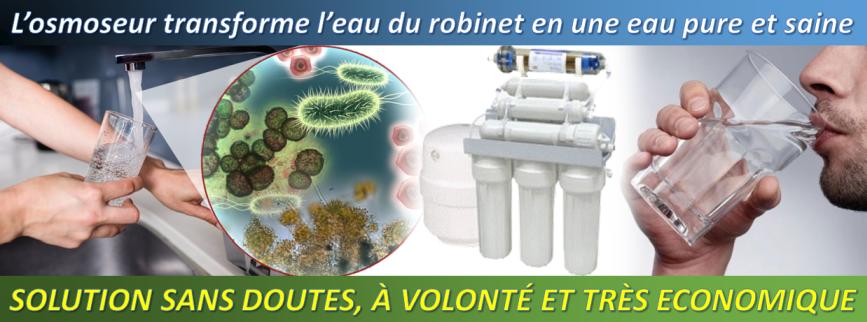 osmoseur RO7 transforme leau du robinet en une eau saine et pure